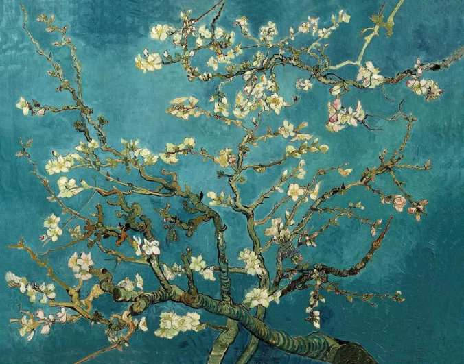 cherry blossoms van gogh