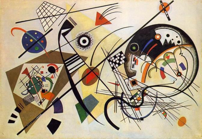 Wassily Kandinsky: «Línea transversal», finalizado en 1923.